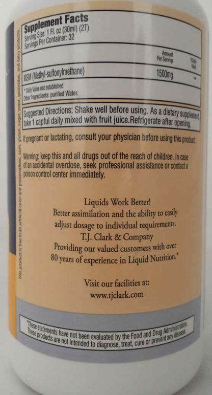 MSM Liquid Supplement - 32 oz.-328