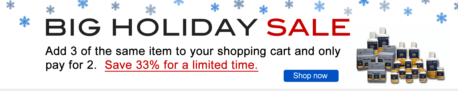 Holiday Sale - add 3 of the same item to your shopping cart and only pay for 2.